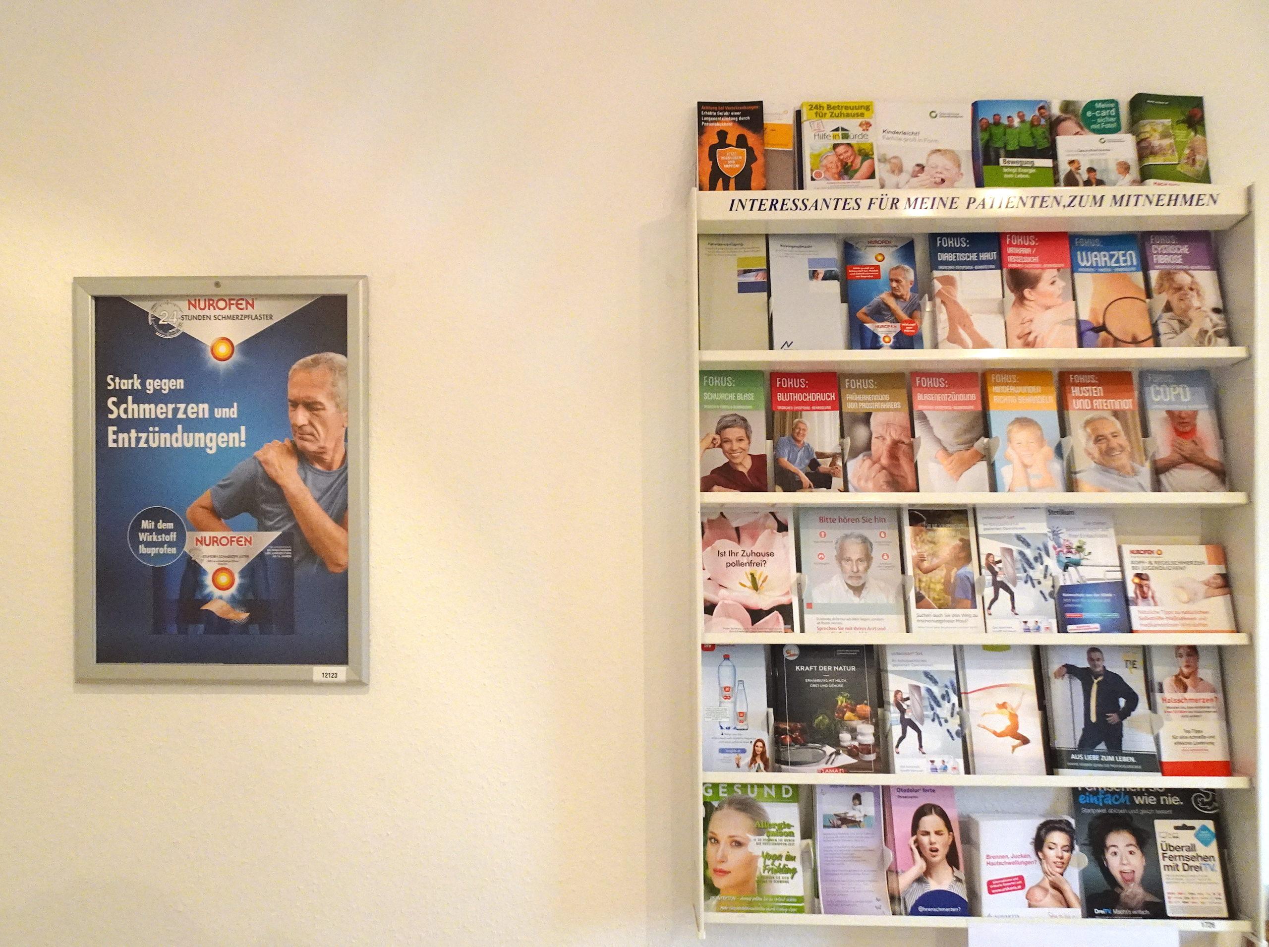 Plakat im Wartezimmer